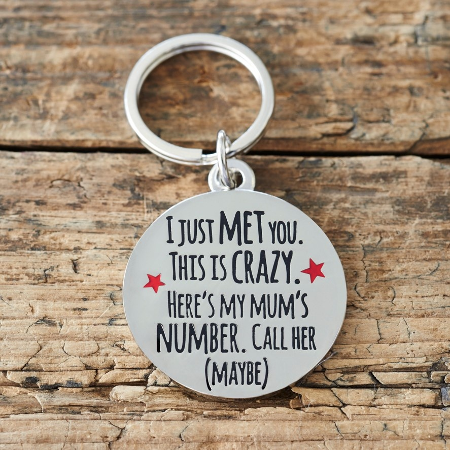 """I JUST MET YOU THIS IS CRAZY"" DOG ID NAME TAG"