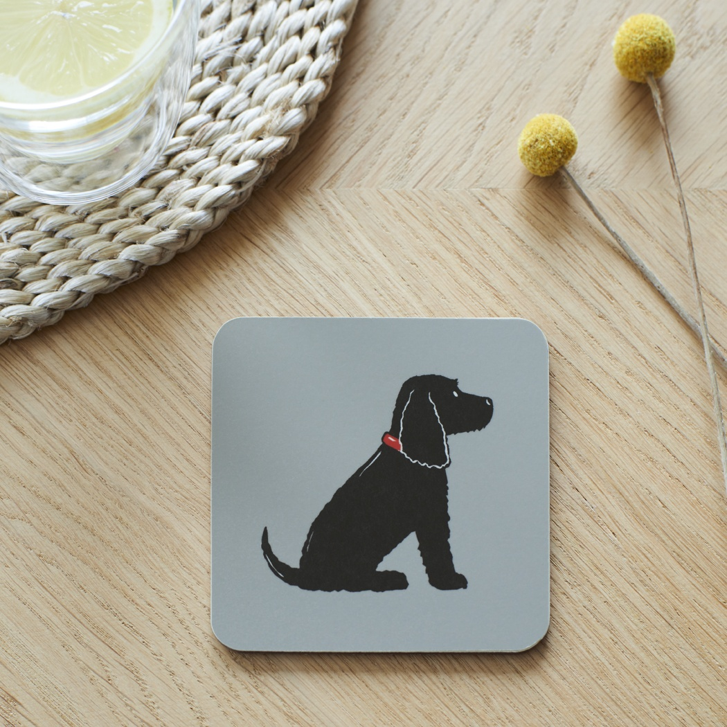 Black Cocker Spaniel Coaster