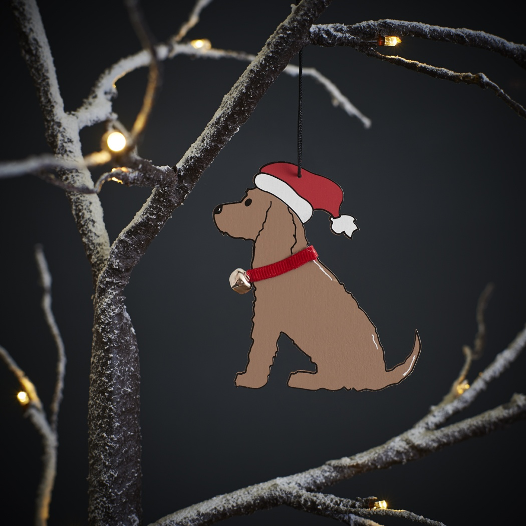 Cocker Spaniel (chocolate) Christmas Tree decoration